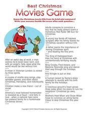 It is a graphic of Insane Christmas Movie Trivia Printable