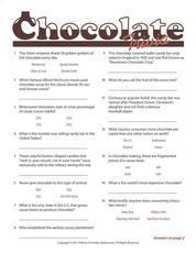 Chocolate trivia game