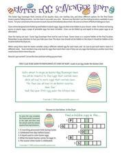 Easter: Egg Scavenger Hunt