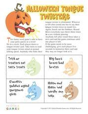 Printable Halloween Games Activities Word Scrambles Bingo
