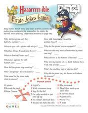 printable game pirate haaarible jokes