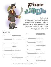 pirate game mad libs printable