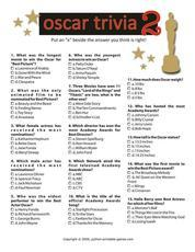 Pop Culture Games: Oscar Trivia