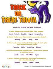 Trick or treat trivia game print games now