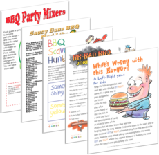Printable party games for picnic or bbq