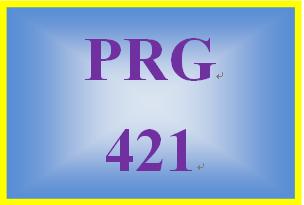 PRG 421 Week 2 Learning Team Program Improvement I