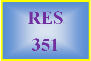 RES 351 Week 2 Team Charter & Preparing to Conduct Business Research