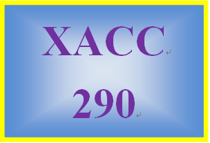 XACC 290 Week 6 Financial Reporting Problem, Part 1