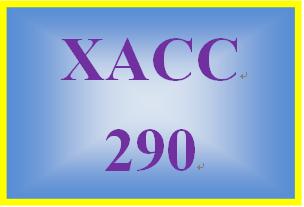 XACC 290 Week 9 Financial Reporting Problem, Part 2