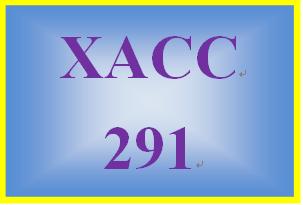 XACC 291 Week 8 Individual Exercises