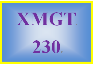 XMGT 230 Week 6 Organizational Structure Paper