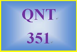 QNT 351 Week 1 Connect Problem Set