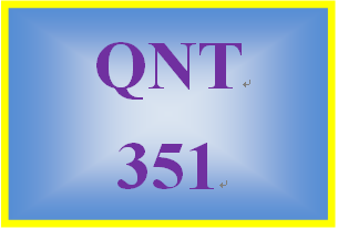 QNT 351 Week 2 Probability Worksheet