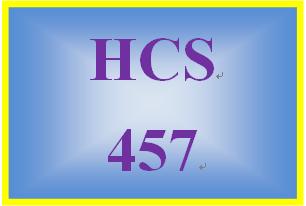 HCS 457 Week 1 Conversation Starter
