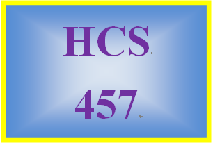 HCS 457 Week 4 Conversation Starter