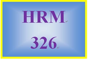 HRM 326 Week 2 Training Key Areas