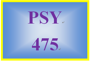 PSY 475 Week 5 Issues in Psychological Testing Worksheet