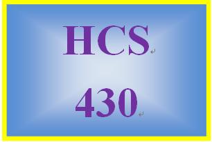 HCS 430 Week 1 Health Care Laws
