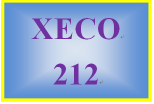 XECO 212 Week 2 Price Elasticity and Supply and Demand Short Answer Quiz