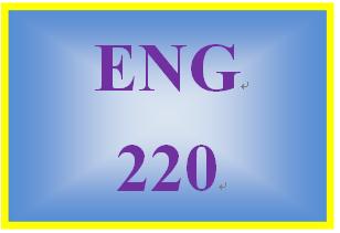 ENG 220 Week 4 Draft of Comparison-Contrast Essay