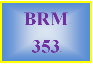 BRM 353 Week 4 Boston Consulting Product Matrix
