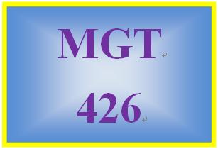 MGT 426 Week 1 Impetus for Change