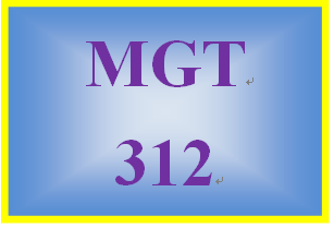 MGT 312 Week 3 Using Strengths to Increase Motivation