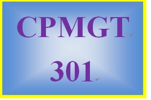 CPMGT 301 Week 5 Project Management Plan