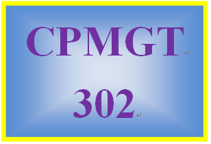CPMGT 302 Week 1 Risk Identification Worksheet and Paper