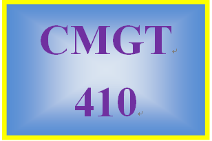 CMGT 410 Week 5 Learning Team: Project Evaluation and Control