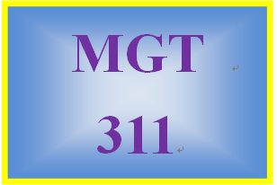 MGT 311 Week 2 Employee Portfolio: Management Plan
