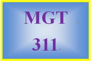MGT 311 Week 3 Employee Portfolio: Motivation Action Plan