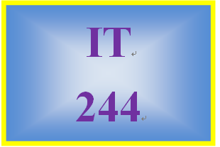 IT 244 Week 7 Individual: Understand and Apply Fundamental Concepts of Cryptography