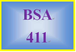 BSA 411 Week 5 Learning Team: Approach to Methodology