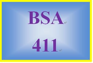 BSA 411 Week 5 Learning Team: Business System Analysis Methodology Paper