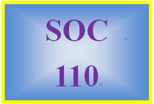 SOC 110 Week 1 Participation