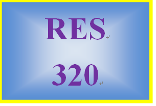 RES 320 Week 2 Assignments from the Readings