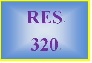 RES 320 Week 5 Final Examination