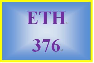ETH 376 Week 4 Weekly Reflection