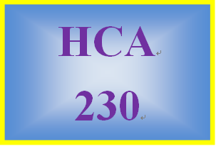 HCA 230 Week 2 Cultural Considerations