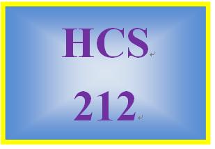 HCS 212 Week 4 Career Spectrum Scavenger Hunt
