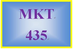 MKT 435 Week 5 Final Consumer Behavior and Marketing Strategy