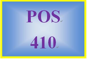 POS 410 Week 1 Quiz