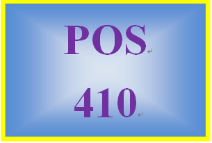 POS 410 Week 4 Learning Team: Progress Report