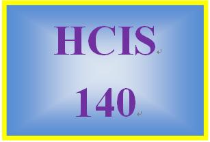 HCIS 140 Week 1 Information Systems Worksheet