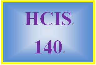 HCIS 140 Week 5 Weekly Summary