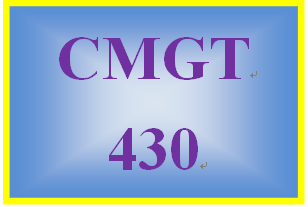 CMGT 430 Week 2 Learning Team: Vulnerabilities and Threat Pairs