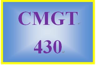 CMGT 430 Week 4 Individual: Controlling Access