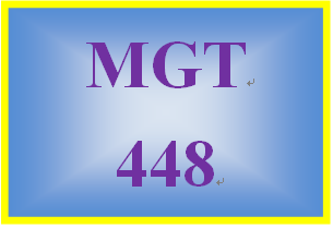 MGT 448 Week 2 Comprehensive Analysis Outline and Presentation