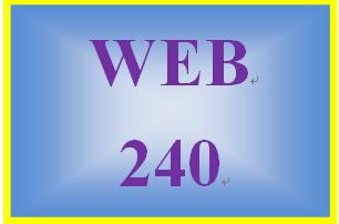 WEB 240 Week 1 Individual: Dreamweaver Lessons